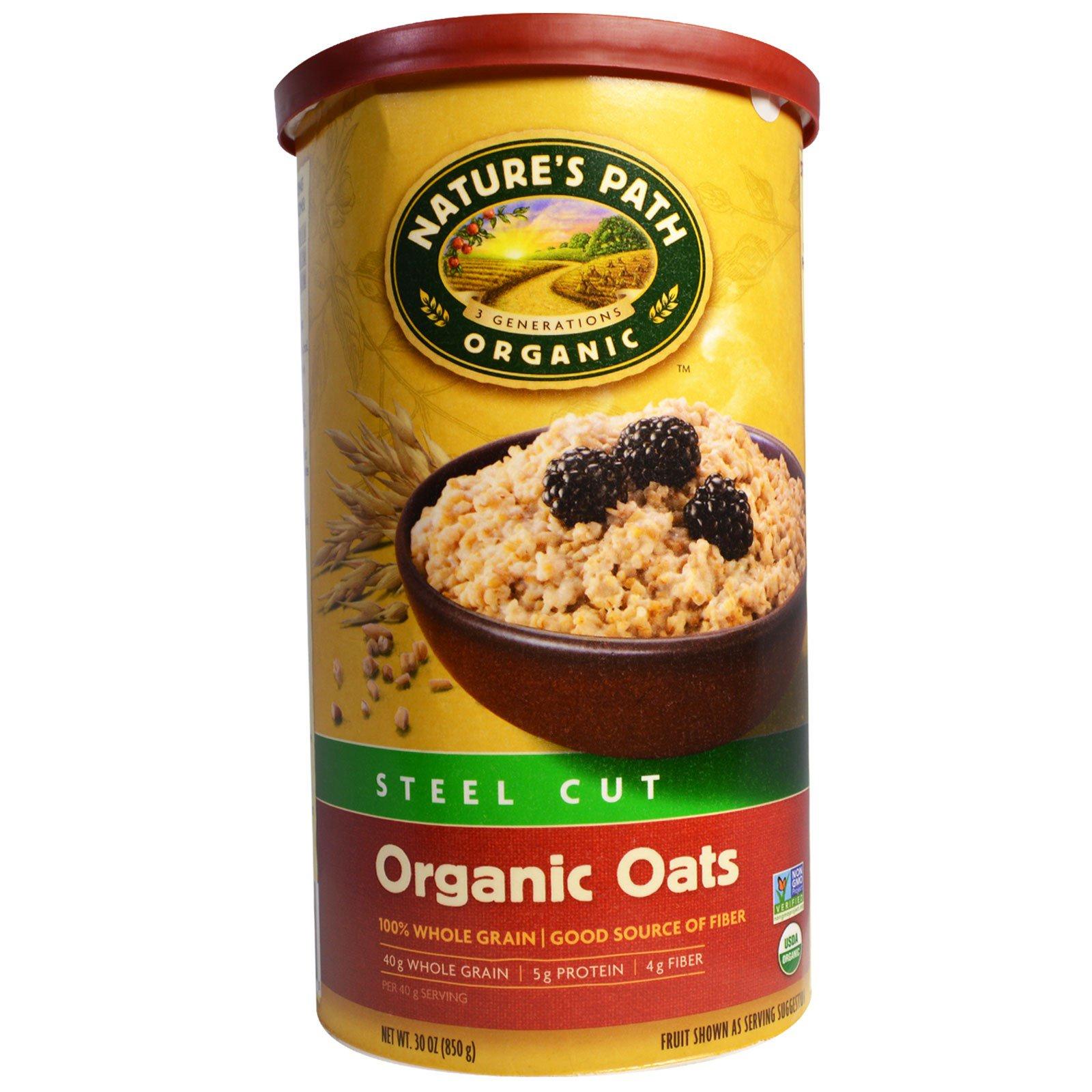 Country Choice Organic, Органический необработанный овес, 30 oz (850 г)