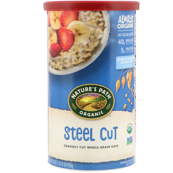 Country Choice Organic, Nature's Path Organic Oats, Steel Cut, 1.9 lbs (850 g) (Discontinued Item)