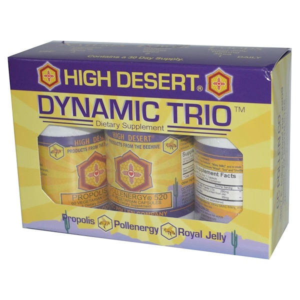 C.C. Pollen, Dynamic Trio, Pollenergy, Propolis, Royal Jelly, 30 Day Supply (Ice) (Discontinued Item)