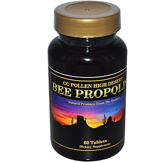 C.C. Pollen, High Desert Bee Propolis, 60 Tablets
