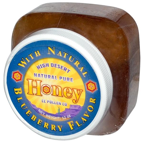 C.C. Pollen, High Desert, Natural Pure Honey, Blueberry Flavor, 12 oz (Discontinued Item)