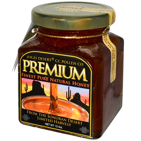 C、C、 Pollen, 純天然蜂蜜,13、4盎司