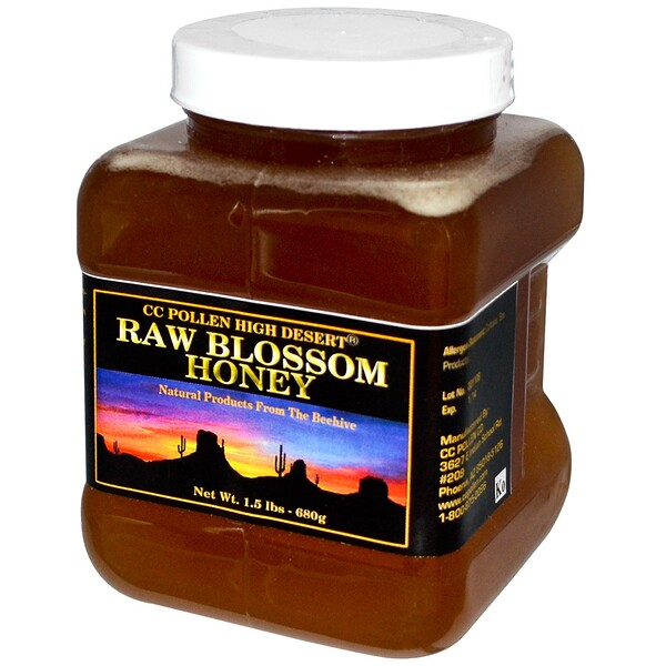 C.C. Pollen, Raw Blossom Honey, 1.5 lbs (680 g)