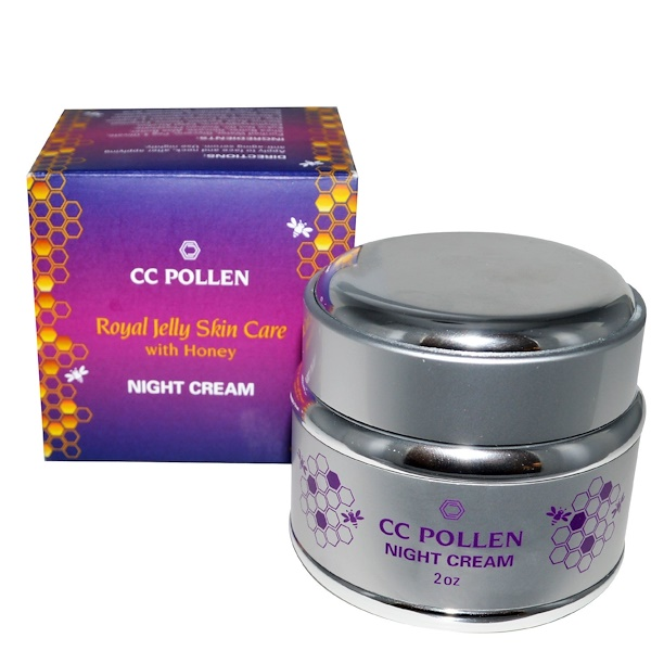 C.C. Pollen, Royal Jelly Skin Care with Honey, Night Cream, 2 oz (Discontinued Item)