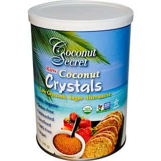 Coconut Secret, Cristales de coco puros, 12 oz (340 g)