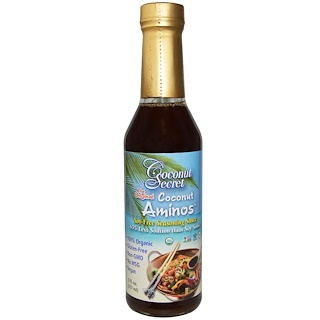 Coconut Secret, Aminos de Coco The Originals, Molho sem Soja, frasco de 8 oz (237 ml)
