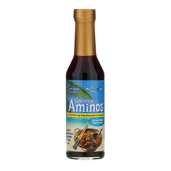 Coconut Secret, The Original Coconut Aminos, Soy-Free Seasoning Sauce, 8 fl oz (237 ml)