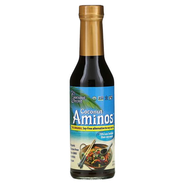 Coconut Secret, CoconutAminos original, Alternativa sin soya a la salsa de soya, 237ml (8oz.líq.)