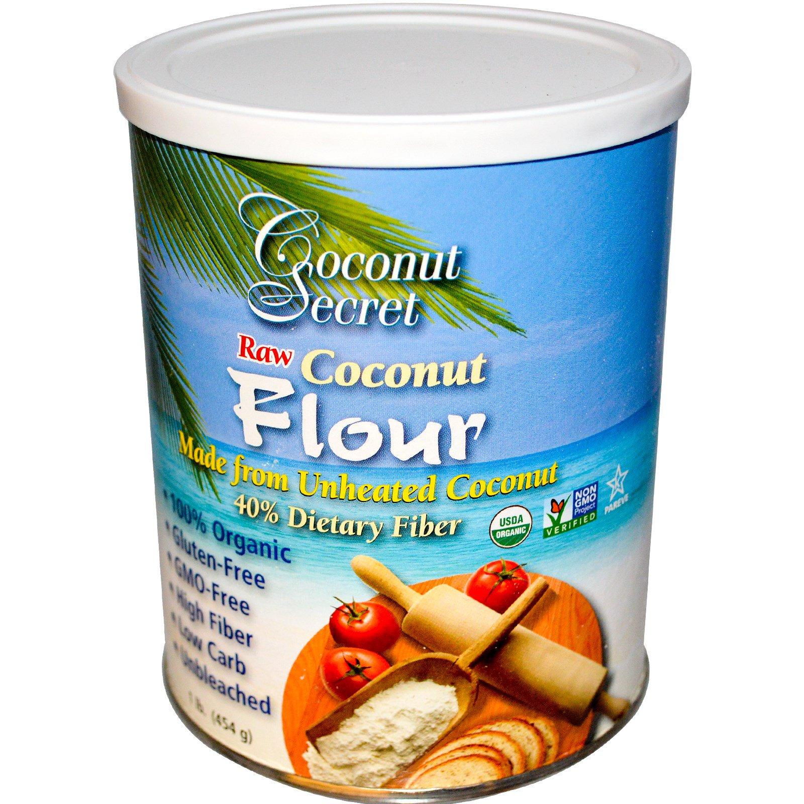 Coconut Secret, Raw Coconut Flour, 1 lb (454 g) - iHerb.com