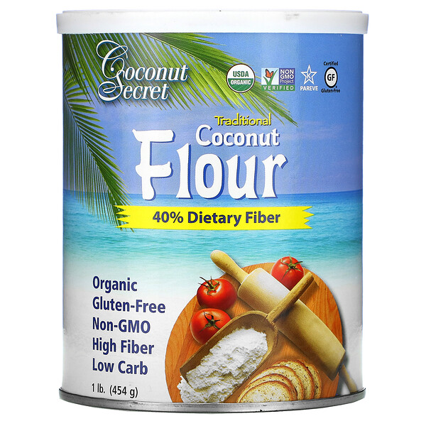 Traditional Coconut Flour, 1 lb (454 g)