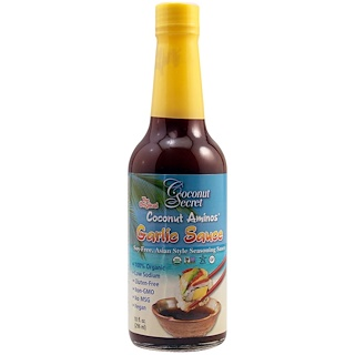 Coconut Secret, Coconut Aminos, Garlic Sauce, 10 fl oz (296 ml)
