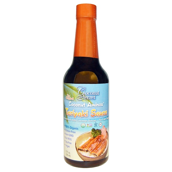 Coconut Secret, Molho Teriyaki, Aminoácidos de coco, 10 fl oz (296 ml)