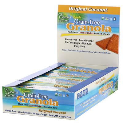 Crunchy Grain-Free Granola Bar , Original Coconut, 12 Bars, 1.2 oz (34 g) Each