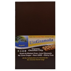 Coconut Secret, オーガニック・ココナッツ・チョコレート・チップ・バー、非グラノーラ、12本、各34g