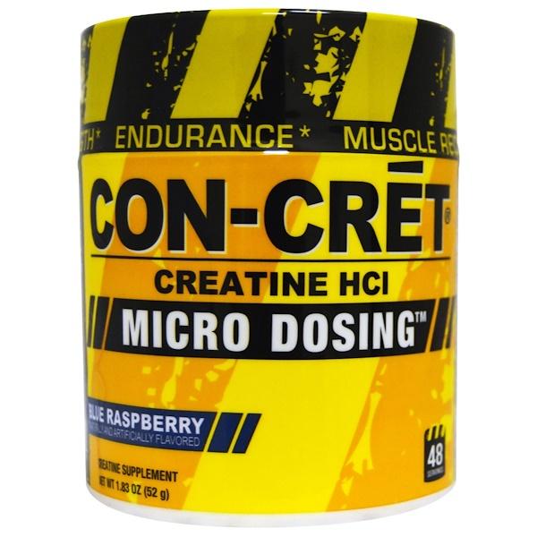 Con-Cret, Creatine HCl, Micro Dosing, Blue Raspberry, 1、83 oz (52 g)