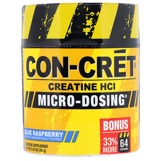 Con-Cret, Creatine HCl, Micro-Dosing, Blue Raspberry, 2.43 oz (69 g)