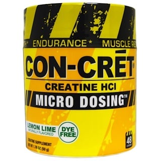 Con-Cret, Creatine HCl, Micro Dosing, Lemon Lime, 1.76 oz (50 g)