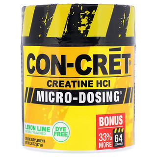 Con-Cret, Creatine HCl, Micro-Dosing, Lemon Lime, 2.36 oz (67 g)