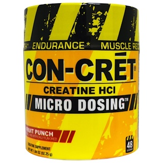 Con-Cret, Creatine HCl, Micro Dosing, Fruit Punch, 1.84 oz (52.25 g)