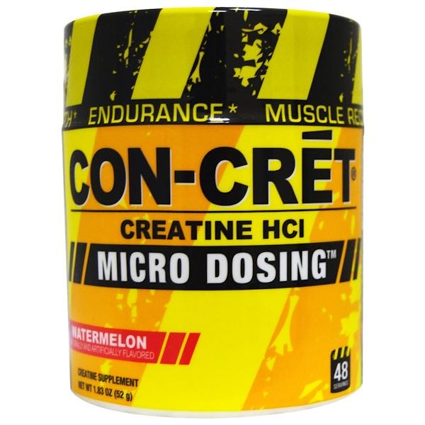 Con-Cret, Creatine HCl, Micro Dosing, Watermelon, 1、83 oz (52 g)
