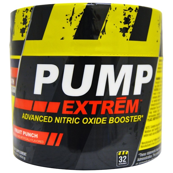 Con-Cret, Pump Extrem, Advanced Nitric Oxide Booster, Fruit Punch, 4.97 oz (140.8 g) (Discontinued Item)