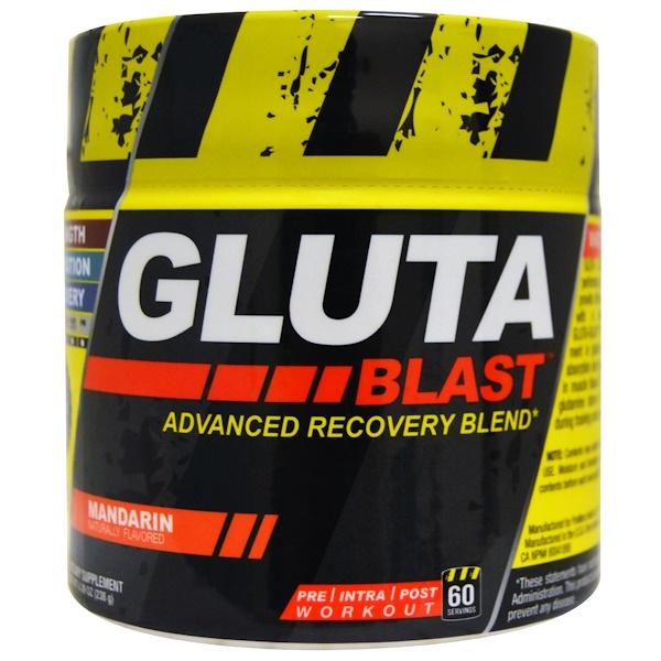 Con-Cret, Gluta Blast, Advanced Recovery Blend, Mandarin, 8.39 oz (238 g) (Discontinued Item)