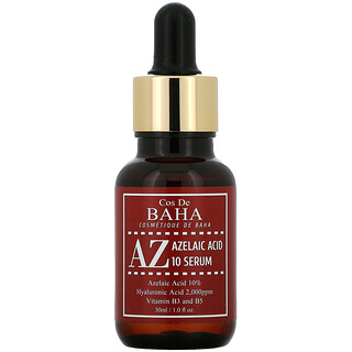 Cos De BAHA, AZ, Azelaic Acid 10 Serum,  1 fl oz (30 ml)