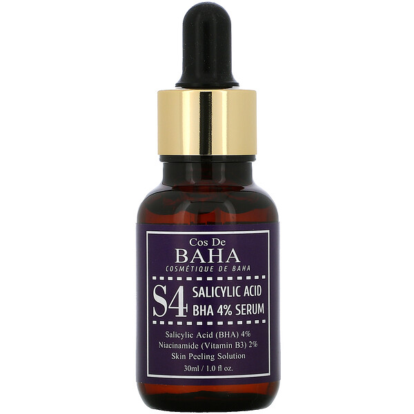 S4, Salicylic Acid BHA 4% Serum, 1 fl oz (30 ml)