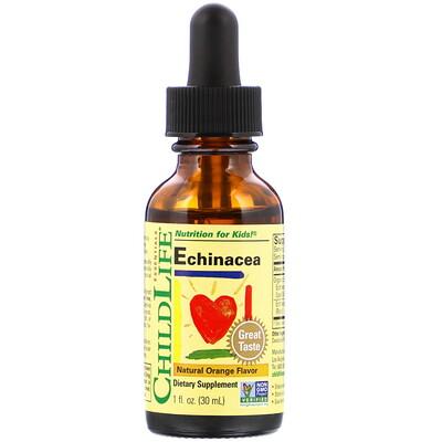Купить Essentials, Echinacea, Natural Orange Flavor, 1 fl oz (30 ml)