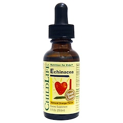 ChildLife, Essentials, Echinacea, Natural Orange Flavor, 1 fl oz (29.6 ml)