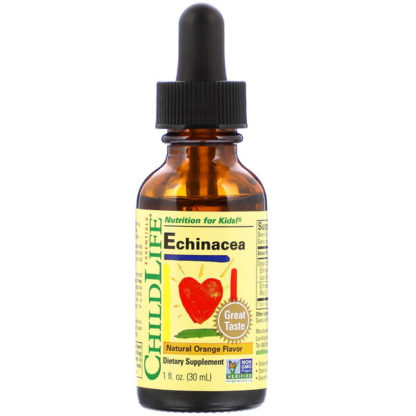 Essentials, Echinacea, Natural Orange Flavor, 1 fl oz (30 ml)