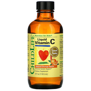 ChildLife, Essentials، شراب فيتامين جـ، بنكهة البرتقال الطبيعي، 4 أونصات سائلة (118.5 مل)