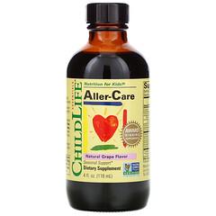 ChildLife, Essentials,Aller-Care 兒童補充劑,天然葡萄味,4 液量盎司(118.5 毫升)