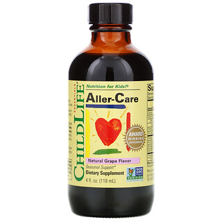 ChildLife, Essentials, Antialérgico, Sabor natural a uva, 118,5ml (4oz.líq.)