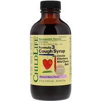 Essentials, формула 3 сиропа от кашля, без спирта, натуральный ягодный вкус, 118,5 мл - фото