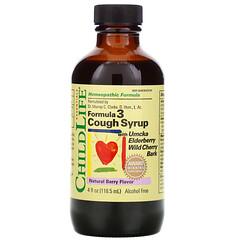 ChildLife, Essentials,配方 3 咳嗽緩解糖漿,不含乙醇,天然漿果味,4 液量盎司(118.5 毫升)