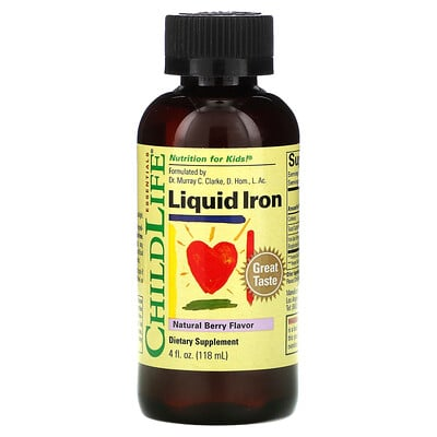 Купить ChildLife Liquid Iron, Natural Berry Flavor, 4 fl oz (118 ml)