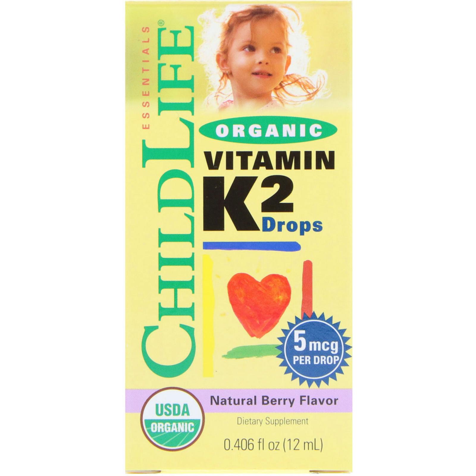 Childlife Organic Vitamin K2 Drops Natural Berry Flavor 0406 Fl