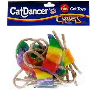 Cat Dancer, Chasers, Cat Toys, 6 Pack
