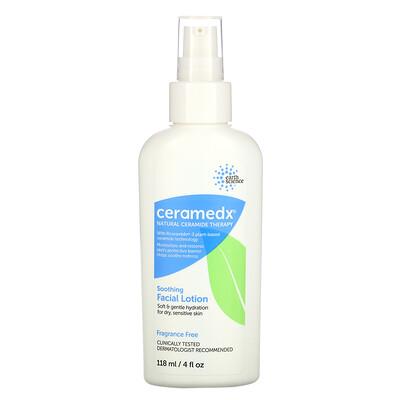 Ceramedx Soothing Facial Lotion, Fragrance Free, 4 fl oz (118 ml)