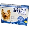 Vetri-Science, Flea + Tick Defense for Dogs up to 22 lbs., 3 Applicators, 0.023 fl oz Each