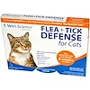 21st Century, Flea + Tick Defense for Cats 8 Weeks or Older, 3 Applicators, 0.017 fl oz Each