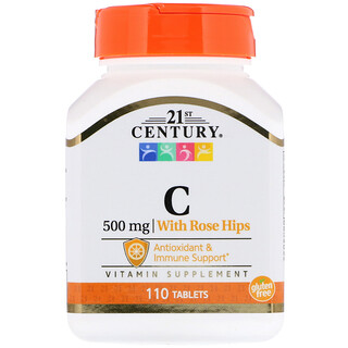 21st Century, Vitamin C, with Rose Hips, 500 mg, 110 Tablets