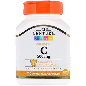 21 Сенчури, Chewable C, Orange Flavor, 500 mg, 110 Tablets отзывы