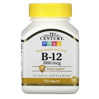 21st Century, B-12, Prolonged Release, 1,000 mcg, 110 Tablets