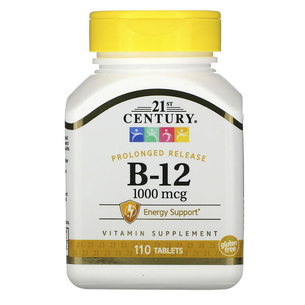 B-12, Prolonged Release, 1,000 mcg, 110 Tablets