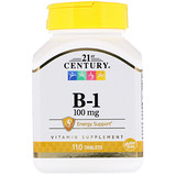 Отзывы о 21st Century, B-1, 100 мг, 110 таблеток