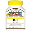 21st Century, B-1, 100 mg, 110 Tablets