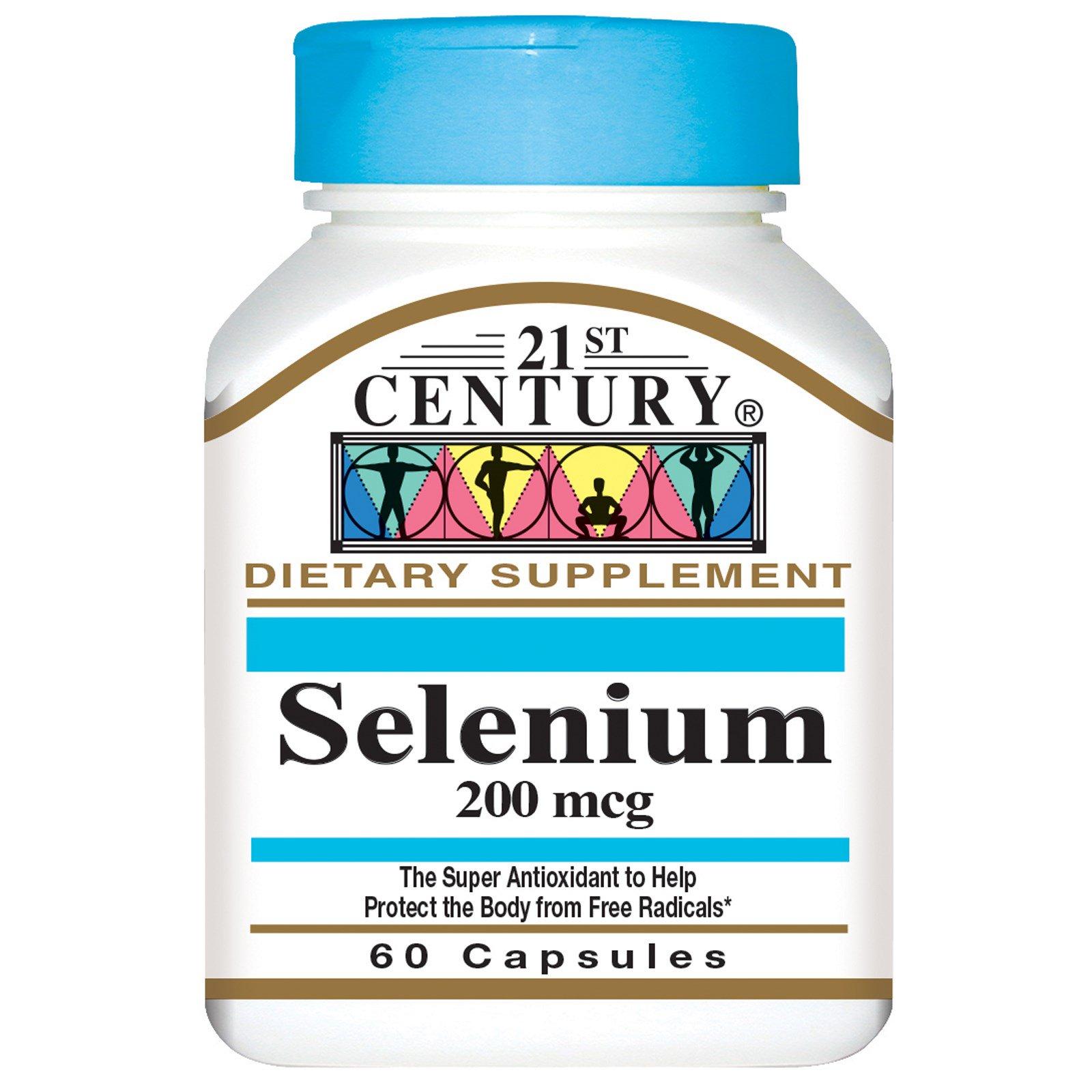 21st Century, Селен, 200 мкг, 60 капсул