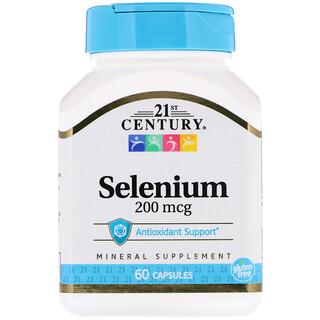 21st Century, Selenium, 200 mcg, 60 Capsules